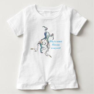 Romper pateta engraçado branco do bebê do diabrete macacão para bebê