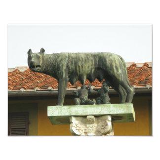 Romulus e Remus - Roma antiga Convite 10.79 X 13.97cm