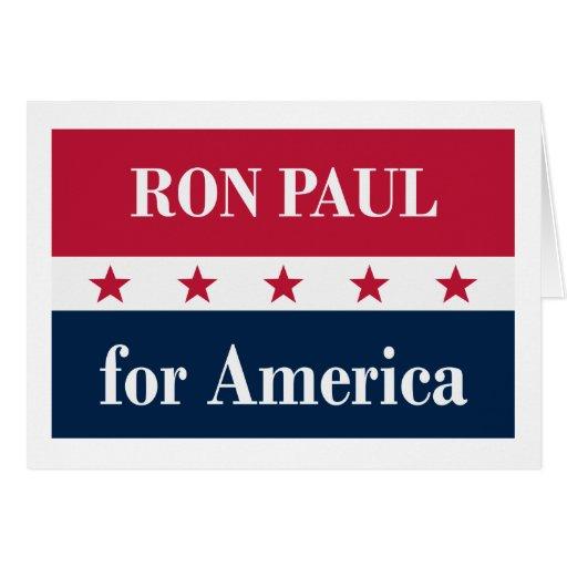 Ron Paul para América Cartões