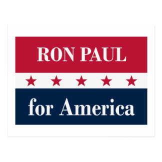 Ron Paul para América Cartoes Postais