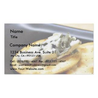 Roquefort do queijo azul cartão de visita