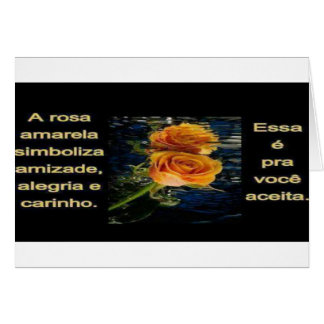 rosa amarela cartão comemorativo