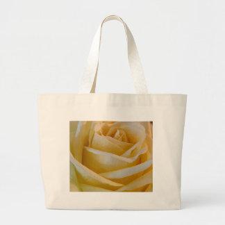 Rosa amarelo bolsa de lona