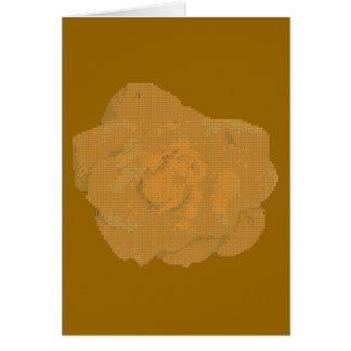 Rosa amarelo de pequeno ponto cartão comemorativo