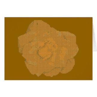 Rosa amarelo de pequeno ponto cartão de nota