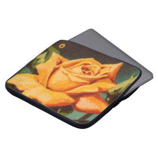 Rosa amarelo sleeve para notebook