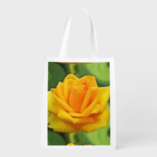 Rosa amarelo sacola reusável