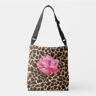 Rosa bonito Brown do rosa & impressão animal do Bolsa Ajustável
