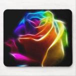 Rosa bonito das cores 1 mousepads