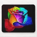 Rosa bonito das cores 5 mouse pad