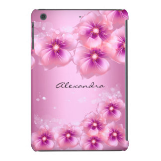 Rosa bonito das flores floral capa para iPad mini retina