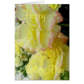 Rosa bonito do cartão do dia das mães e floral