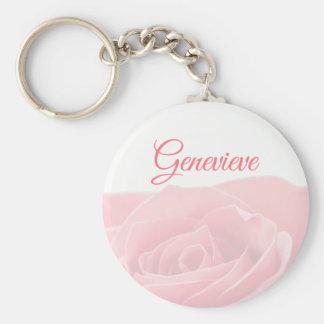 Rosa bonito do rosa personalizado com chaveiro