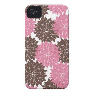 Rosa bonito e impressão floral das flores da flor capinhas iPhone 4