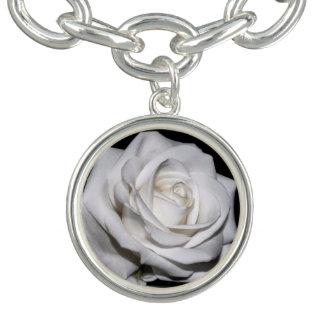 Rosa branco de HAMbWG - bracelete do encanto