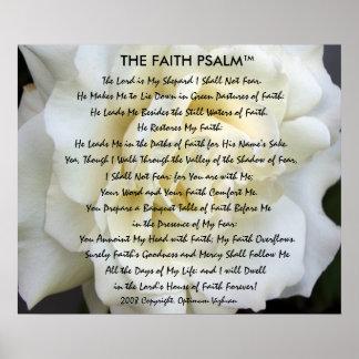 Rosa branco do salmo da fé de WarriorsCreed Pôster