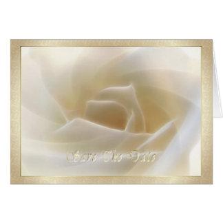 """Rosa branco """"economias cartão da data"""""""