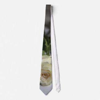 Rosa branco gravata