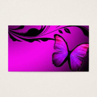 Rosa brilhante da borboleta 311 & cartão conhecido