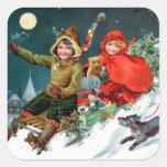 Rosa C. Petherick: Compra do Natal Adesivo Quadrado
