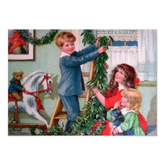 Rosa C. Petherick: Decorações do Natal Convite 12.7 X 17.78cm