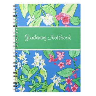 Rosa, caderno de jardinagem customizável floral br cadernos espiral