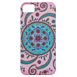 Rosa & capa de telefone floral da mandala de capa barely there para iPhone 5