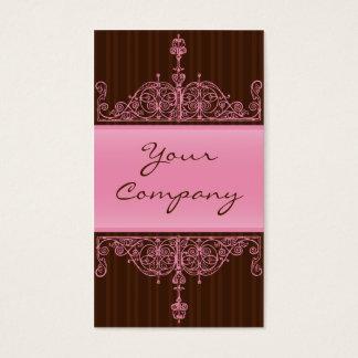 Rosa & cartão antigo do quadro de Brown