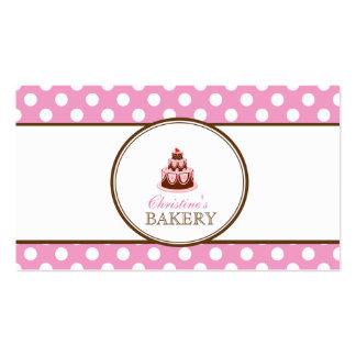 Rosa & cartão de visita da padaria do bolo das