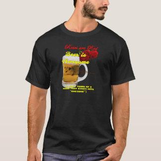 Rosa-Cerveja-Cru Camiseta