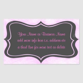 Rosa chique do boutique, cinza de carvão vegetal S Adesivos