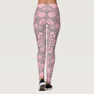 Rosa/cinza de Legging da ioga