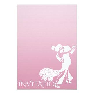 Rosa clássico Ombre Pastel delicado da dança do Convite 8.89 X 12.7cm
