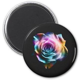 Rosa colorido da tintura do laço imã