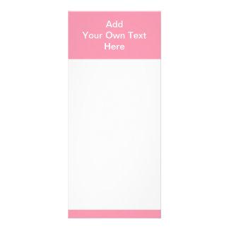 Rosa com área e texto brancos 10.16 x 22.86cm panfleto