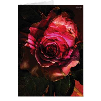 rosa com folhas bombom colors cartao