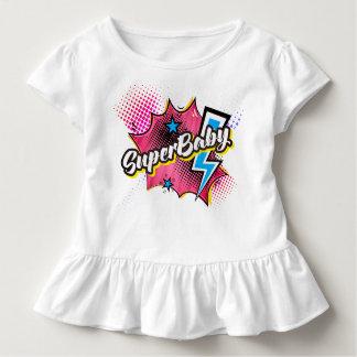 ROSA cómico do presente da camisa da criança do