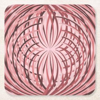 Rosa complicado do folho porta-copo de papel quadrado