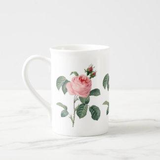 Rosa cor-de-rosa Centifolia pela caneca de China Xícara De Chá
