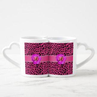 Rosa cor-de-rosa do rosa quente do leopardo do caneca lover