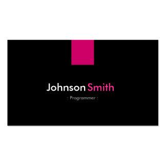 Rosa cor-de-rosa moderno do programador cartão de visita