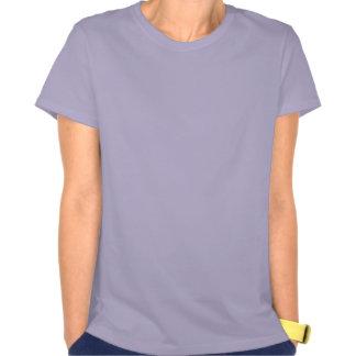 Rosa corajoso do espaço artístico camisetas