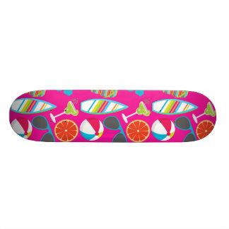 Rosa da bola de praia dos óculos de sol dos chinel shape de skate 18,1cm