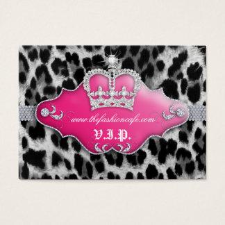 Rosa da coroa do leopardo do cartão do clube do