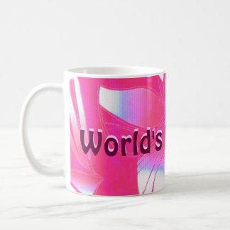 Rosa da mamã do mundo impressão havaiano do melhor caneca de café