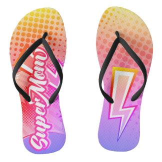 ROSA da mamã dos chinelos das sandálias da praia