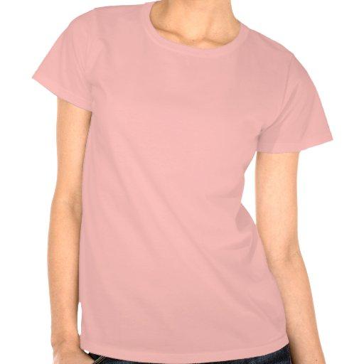 Rosa da menina do corredor camisetas