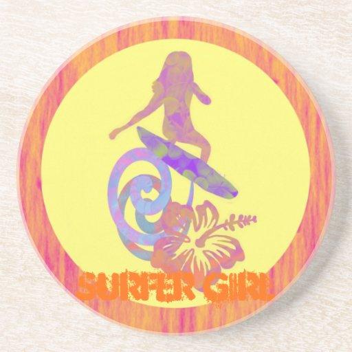 Rosa da menina do surfista, Fushia, limão, Lilac,  Porta Copo Para Bebidas
