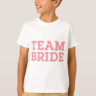 Rosa da noiva da equipe camiseta