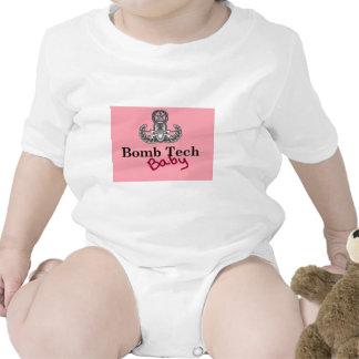 rosa de bebê da tecnologia da bomba macacões